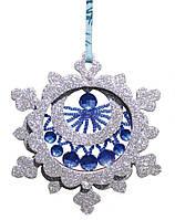 Набор новогоднее украшение из фанеры Снежинка