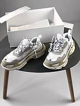 Мужские кроссовки Balenciaga Triple S White/Grey 520145-W09E1-9000, Баленсиага Трипл С, фото 2