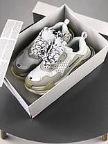 Мужские кроссовки Balenciaga Triple S White/Grey 520145-W09E1-9000, Баленсиага Трипл С, фото 3