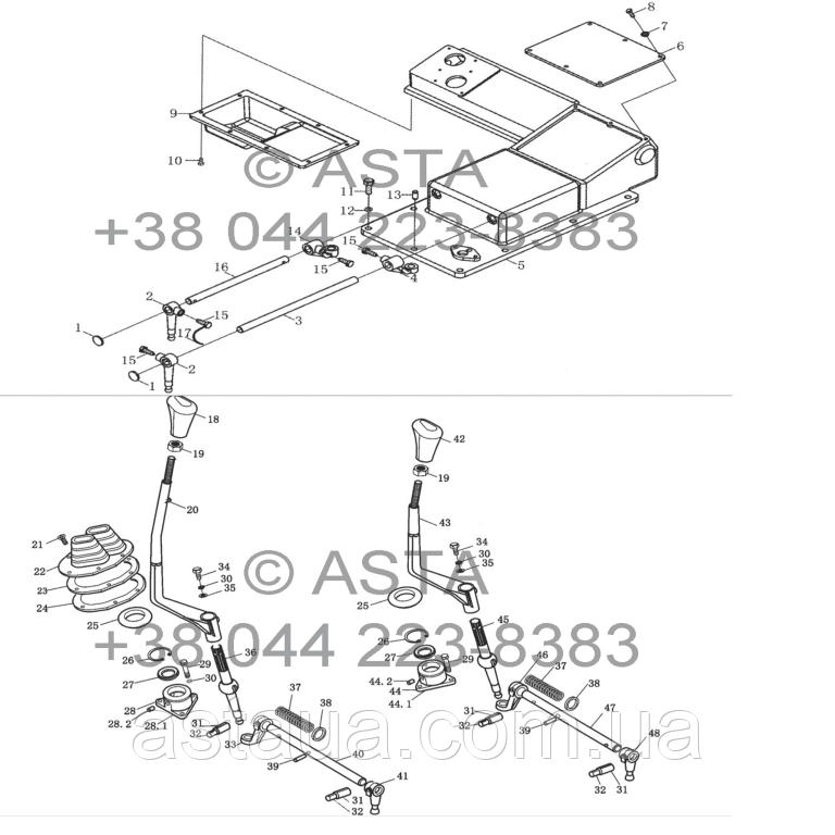 Передняя сторона коробки передач в сборе (опция) на YTO X1104