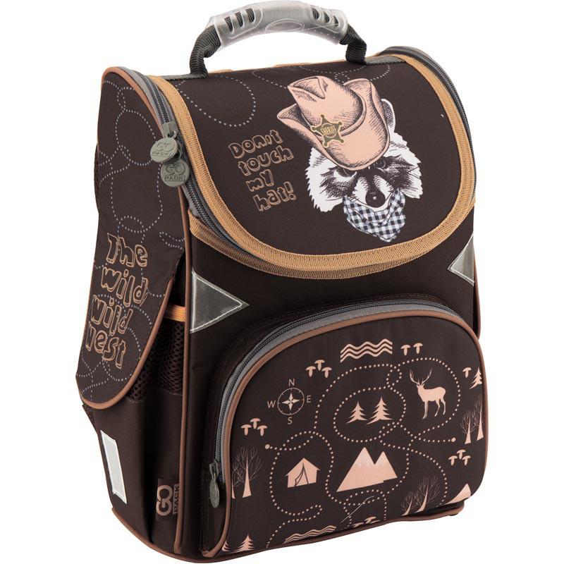 075fa287bd62 Рюкзак школьный каркасный 1-3 класс, ортопедическая спинка ТМ GoPack для  мальчиков Енот Шериф