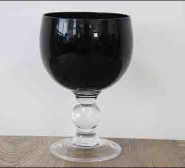 Набор из 3-х подсвечников бокалов Артемон черный, 750 мл, фото 2
