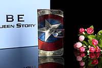 Чехол книжка с рисунком Oukitel U7 Max Щит Капитана Америки