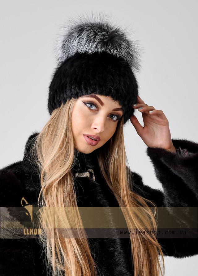 Женская меховая шапка с чернобуркой ФОТО