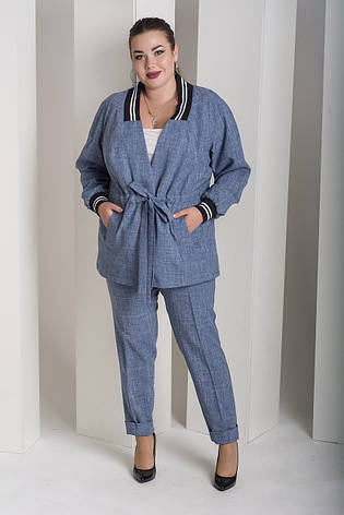 e3d1959ca0e Брючный костюм больших размеров Вог джинс  1 400 грн. Купить в ...