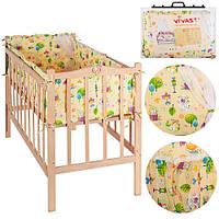 Детское постельное белье Vivast М V-640-90000-10 Персиковый (intМ V-640-90000-10)