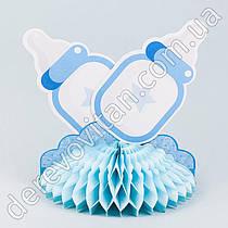 "Декор-соты детский ""Бутылочки"", голубой, 21×24.5 см"