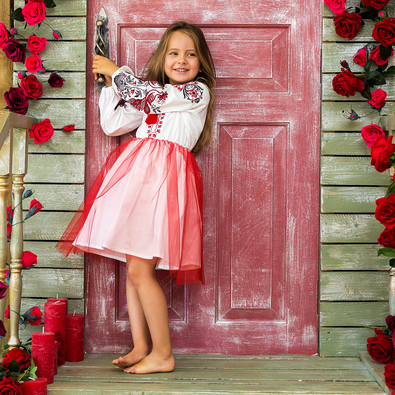 Детское платье вышиванка для девочки Жарптица