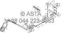 Задняя коробка передач - Блокировка дифференциала и устройства управления (опция) на YTO X1104