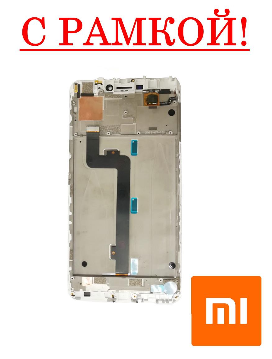 Дисплей сенсор XIAOMI MI MAX - модуль с рамкой в сборе - ОРИГИНАЛ