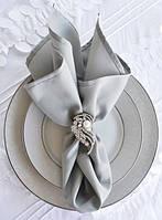 Салфетка тканевая сервировочная светло-серая габардиновая Atteks - 1510