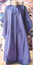 Копія Пеньюар для стрижки без напису на липучці і зав'язках, фіолетовий