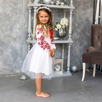 Детское платье вышиванка для девочки Птицы, фото 2