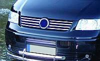Накладка на решетку VW T5 (Omsa, 8 шт, нерж)
