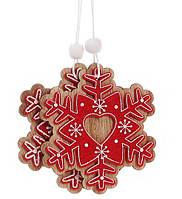 Набор (2шт) новогодних украшений Снежинка 8см(24шт)