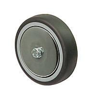 Колесо 125x27 поліамід/сіра резина, підшипник ковзання, навантаження 110 кг