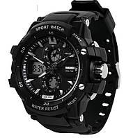 Мужские часы Skmei 1253 Black / Resist 0990, фото 1