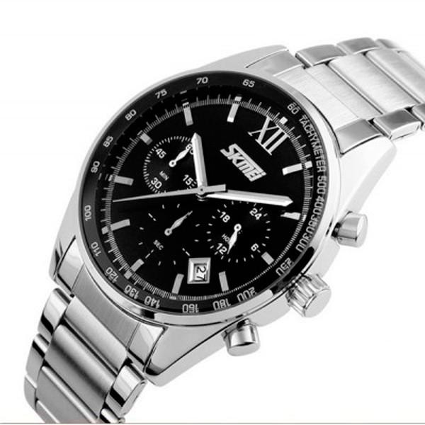 Мужские часы Skmei 1050 Серебристые