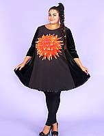 Платье-туника большого размера 58-68