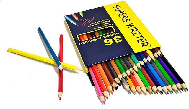 """Цветные карандаши Superb Writer 36 цветов №4100-36CB """"MARCO"""" (уп4\80), фото 2"""