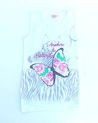 Модная футболка- туника (рост 128)