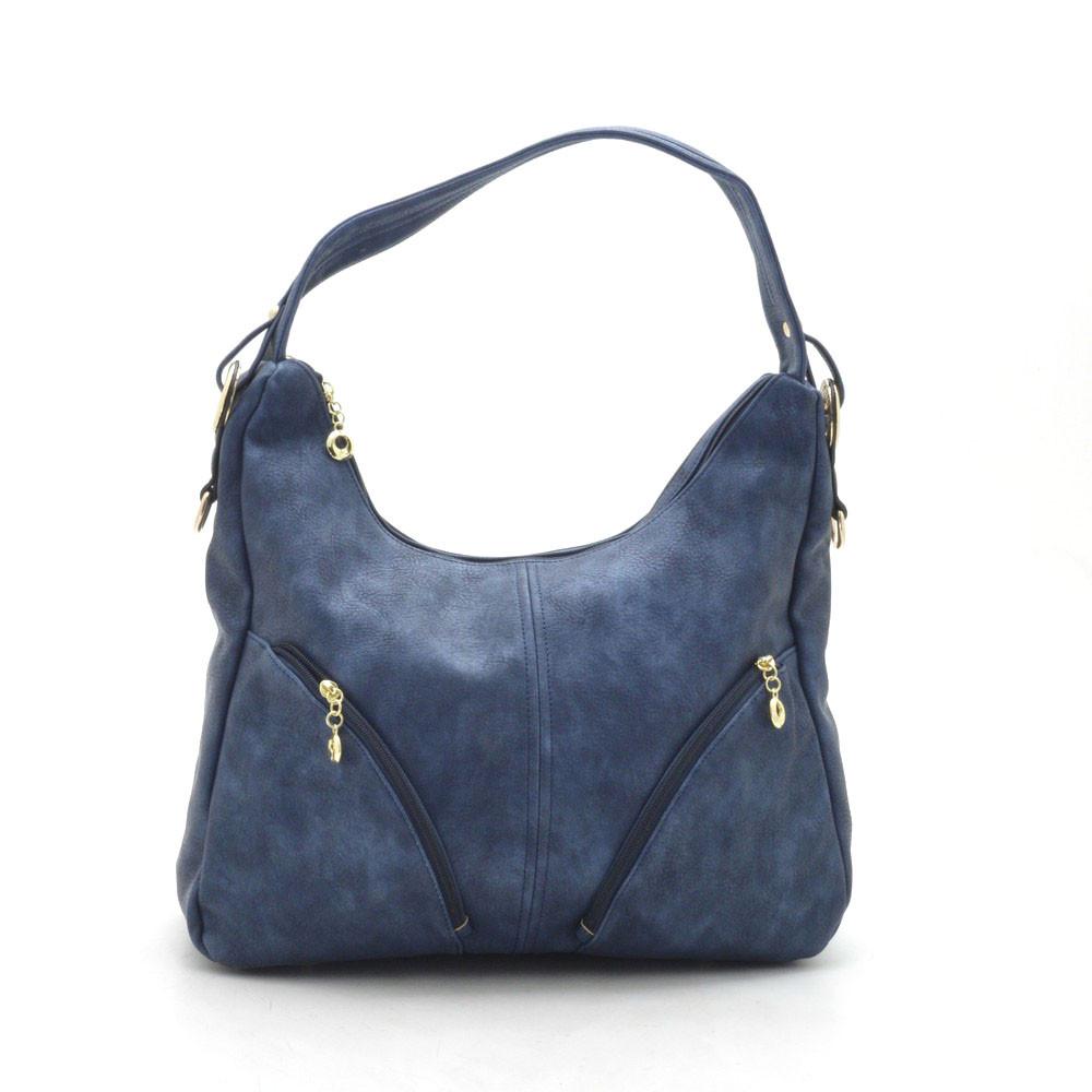 fadea014c341 Стильная женская сумка синего цвета с наружными карманами - bonny-style в  Хмельницком