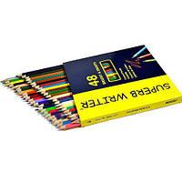 """Цветные карандаши Superb Writer 48 цветов №4100-48CB """"MARCO"""" (уп6\60)"""