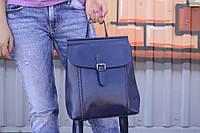 """Женский кожаный рюкзак-сумка (трансформер) """"Милла Blue"""", фото 1"""