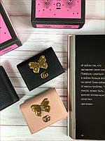 Кожаный кошелек GUCCI  черный (реплика), фото 1