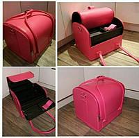 Модный многофункциональный бьюти-кейс  розовый.