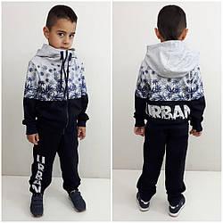 Стильный спортивный костюм  URBAN на мальчиков, подростков, цвет темно синий