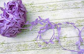 Тасьма декоративна з листочком,  20мм  № 08 фіолетова (LE-469)