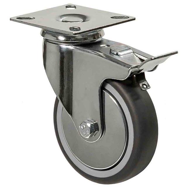 Аппаратные колеса с кронштейнами (поворотные/поворотные с тормозом/неповоротные/под болт/с резьбой)