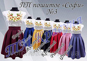 """Пошитое платье под вышивку подросток """"Софи"""" №3"""