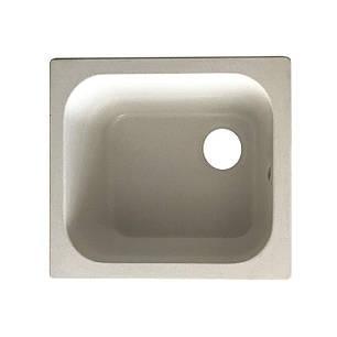 Мойка керамогранит GRAND прямоугольная 49/44/210 бело-серый камень, фото 2