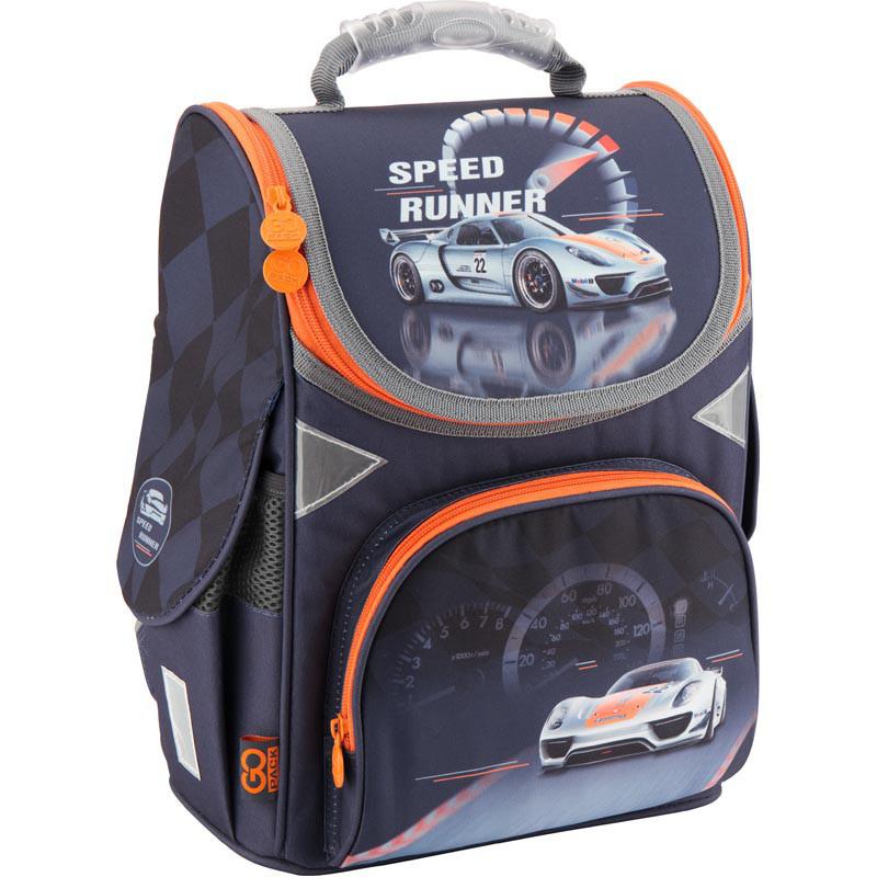 079ba4f9f5a3 Рюкзак школьный каркасный 1-3 класс, ортопедическая спинка ТМ GoPack для  мальчиков Need For