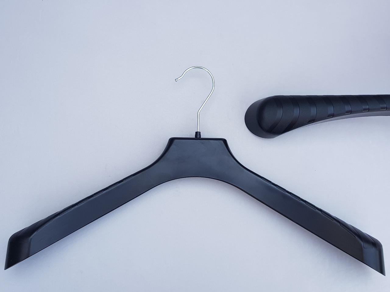 Плічка вішалки тремпеля V-PL46 чорного кольору, довжина 46 см