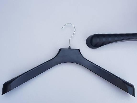 Плічка вішалки тремпеля V-PL46 чорного кольору, довжина 46 см, фото 2