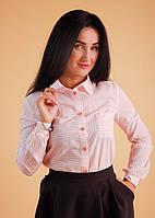 Молодежная женская рубашка в модную полоску