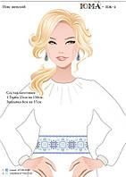 Заготовка для вышивки женского пояса на атласе ПЖ 4