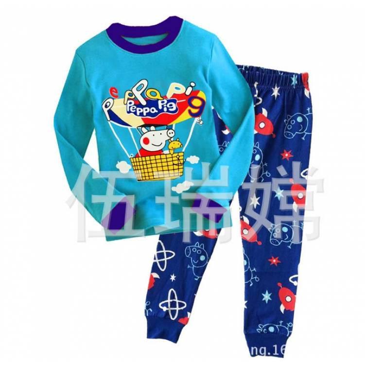 Пижама детская для мальчика синяя свинка Пепа