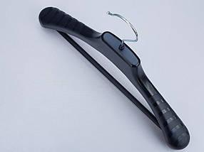Плічка вішалки тремпеля V-PLp38 чорного кольору, довжина 38 см, фото 2