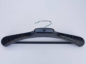 Плічка вішалки тремпеля V-PLp38 чорного кольору, довжина 38 см, фото 3