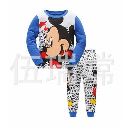Пижама детская для мальчика синяя  Микки Маус, фото 2