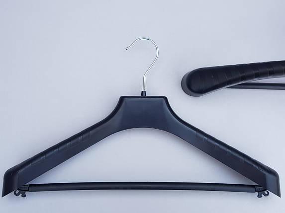 Плечики вешалки тремпеля V-PLp42 черного цвета, длина 42 см, фото 2