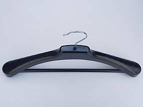 Плечики вешалки тремпеля V-PLp42 черного цвета, длина 42 см, фото 3