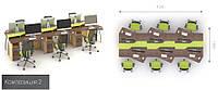 Офисная мебель  Прайм 2 офисный стол