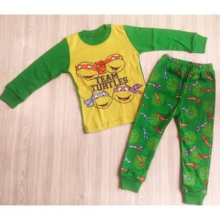 Пижама детская для мальчика зеленая Черепашки -ниндзя, фото 2