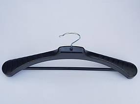 Плічка вішалки тремпеля V-PLp46 чорного кольору, довжина 46 см, фото 3