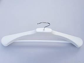Плечики вешалки тремпеля V-PLp46 белого цвета, длина 46 см, фото 3
